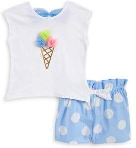 Flapdoodles Little Girl's Two-Piece Ice Cream Top and Shorts Set
