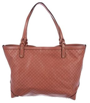 Gucci Leather Microguccissima Tote - PINK - STYLE