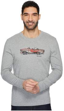 Life is Good Air Conditioning Long Sleeve Crusher Tee Men's T Shirt