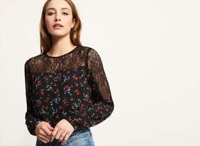 Dynamite Long Sleeve Top With Lace