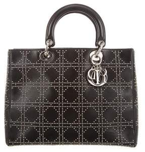 Christian Dior Studded Large Lady Bag