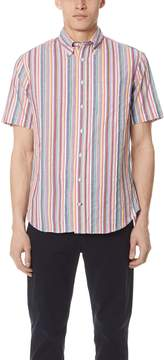 Gitman Brothers Short Sleeve Stripe Shirt