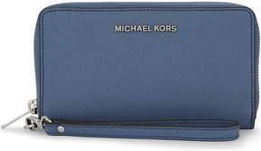 MICHAEL Michael Kors Jet Set Travel large leather multi-functional wallet - ALUMINUM - STYLE