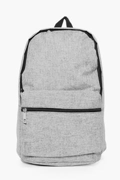boohoo Grey Textured Back Pack