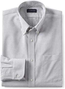 Lands' End Lands'end Men's Big Long Sleeve Buttondown Pattern Oxford Shirt