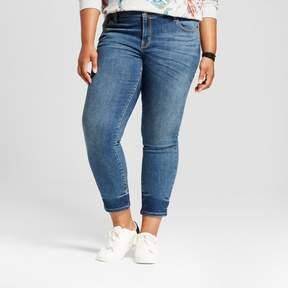 Ava & Viv Women's Plus Size Skinny Jean Medium Wash