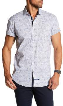 English Laundry Bamboo Print Classic Fit Short Sleeve Shirt
