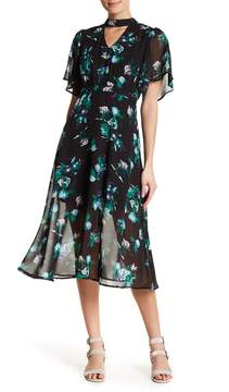 Collective Concepts V-Neck Flare Sleeve A-Line Dress