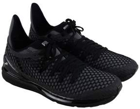 Puma Ignite Limitless Netfit Black White Mens Lace Up Sneakers