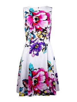 Vince Camuto Women's Floral Pleated Dress (12, Print)