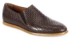 Aquatalia Irwin Woven Leather Loafers