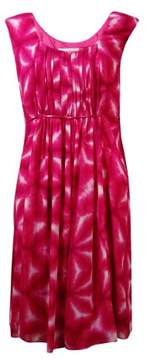 Calvin Klein Women's Pleated Tie-Dyed Crepe Dress