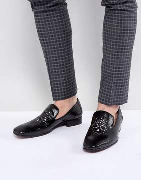 Jeffery West Jung Skull Patent Loafers In Black