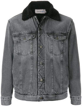 CK Calvin Klein faux shearling lined denim jacket