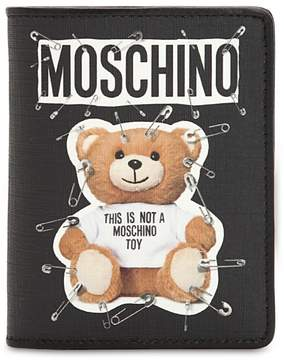 Moschino Teddy Bear Printed Snap Wallet