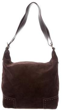 Max Mara Leather-Trimmed Suede