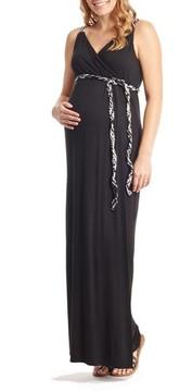 Everly Grey Women's Sofia Maternity/nursing Maxi Dress