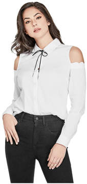 GUESS Natalia Cold-Shoulder Bolo Shirt