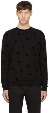 McQ Black Micro Swallow Sweatshirt