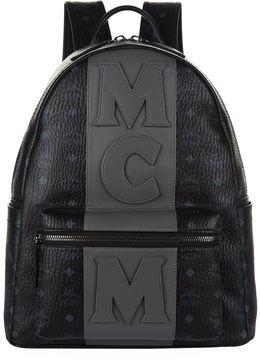 MCM Striped Logo Motif Backpack
