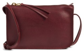 Madewell The Simple Leather Crossbody Bag - Burgundy