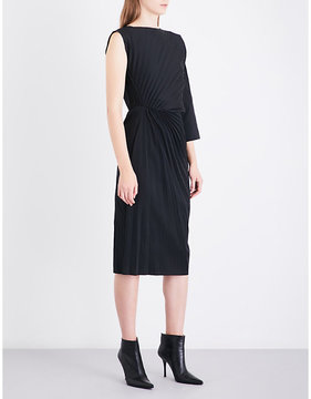 A.F.Vandevorst Pleated neoprene midi dress
