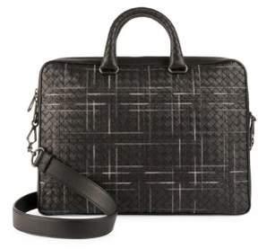 Bottega Veneta Multi-Nero Leather Briefcase