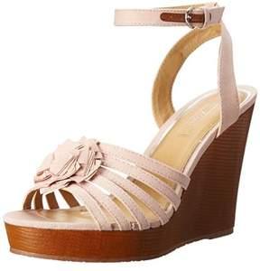 XOXO Women's Raina Wedge Sandals.