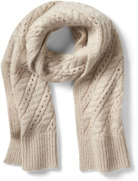 Banana Republic Sparkle Cable-Knit Rectangular Scarf