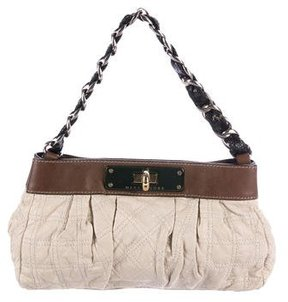 Marc Jacobs Leather-Trimmed Handle Bag - BROWN - STYLE