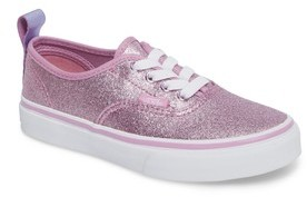 Vans Girl's Glitter Authentic Elastic Lace Sneaker