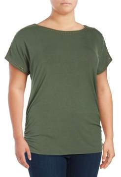 Context Plus Heat Organic Ruched Tee