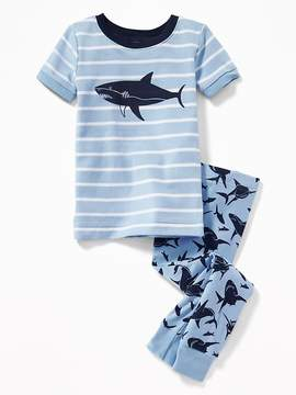 Old Navy Shark-Graphic Sleep Set for Toddler Boys & Baby