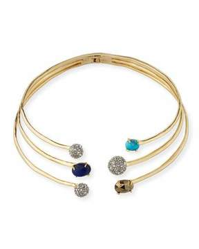 Alexis Bittar Orbiting Crystal Collar Necklace