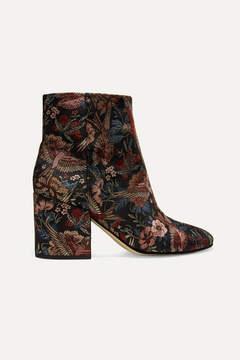 Sam Edelman Taye Jacquard Ankle Boots - Black