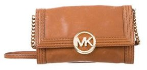 MICHAEL Michael Kors Leather Crossbody Bag - BROWN - STYLE