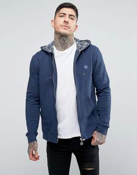 Pretty Green Busby Hoody in Navy