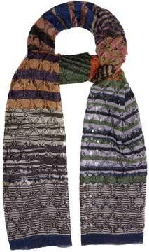 Missoni Diamond-laddered knitted scarf