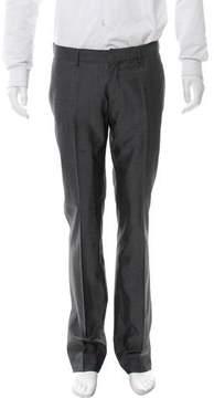 Christian Dior Flat Front Wool & Silk-Blend Pants