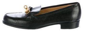Hermes Kelly Leather Loafers
