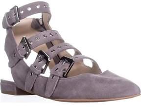 Dolce Vita Elodie Gladiator Buckle Sandals, Smoke Suede.