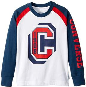 Converse Long Sleeve Collegiate Raglan Tee Boy's T Shirt