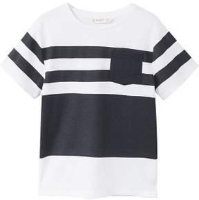 MANGO Striped cotton t-shirt