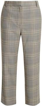 Tibi Taylor checked cropped trousers