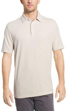 Van Heusen Short Sleeve Two Tone Slub Textured Polo Shirt