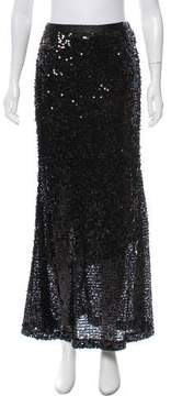 Carmen Marc Valvo Sequined Maxi Skirt w/ Tags