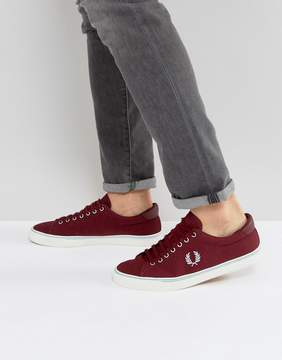 Fred Perry Underspin Canvas Sneakers in Red