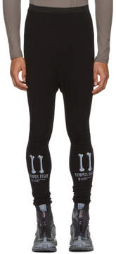 11 By Boris Bidjan Saberi Black Tempus Fugit Track Pants