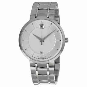Movado 1881 Automatic Silver Dial Men's Stainless Steel Watch 0606915