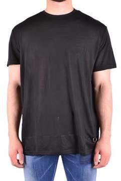 Les Hommes Men's Black Modal T-shirt.